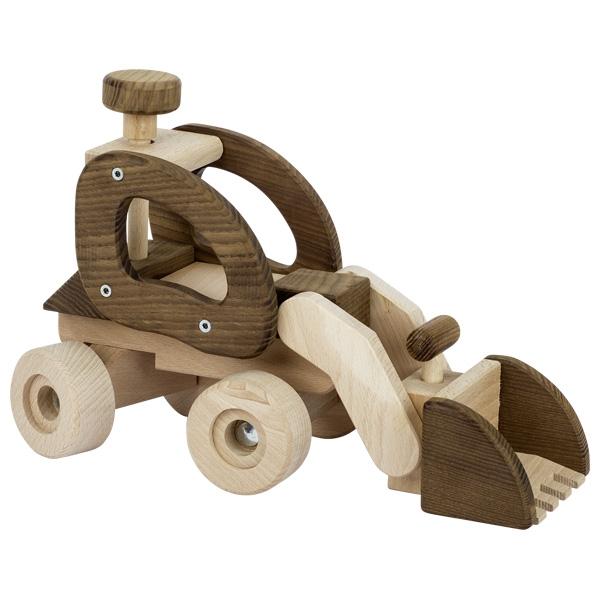 Camión excavadora madera natural