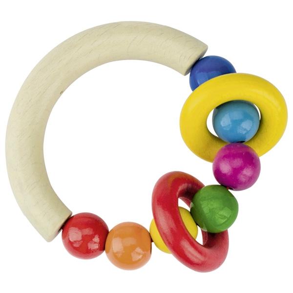 Sonajero medio círculo con perlas y dos anillas Heimess