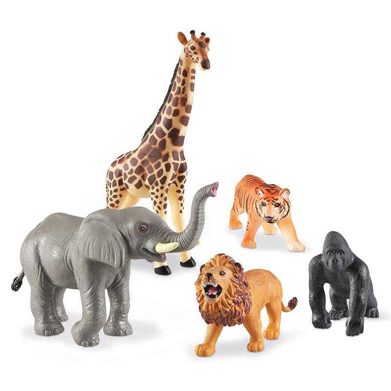 Animales salvajes jumbo set de 5 un