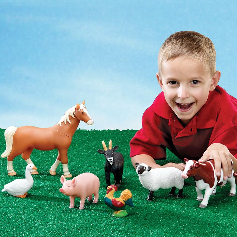 Animales de la granja jumbo 7 un