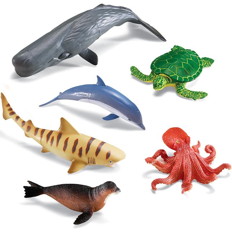 Animales marinos jumbo 6pz