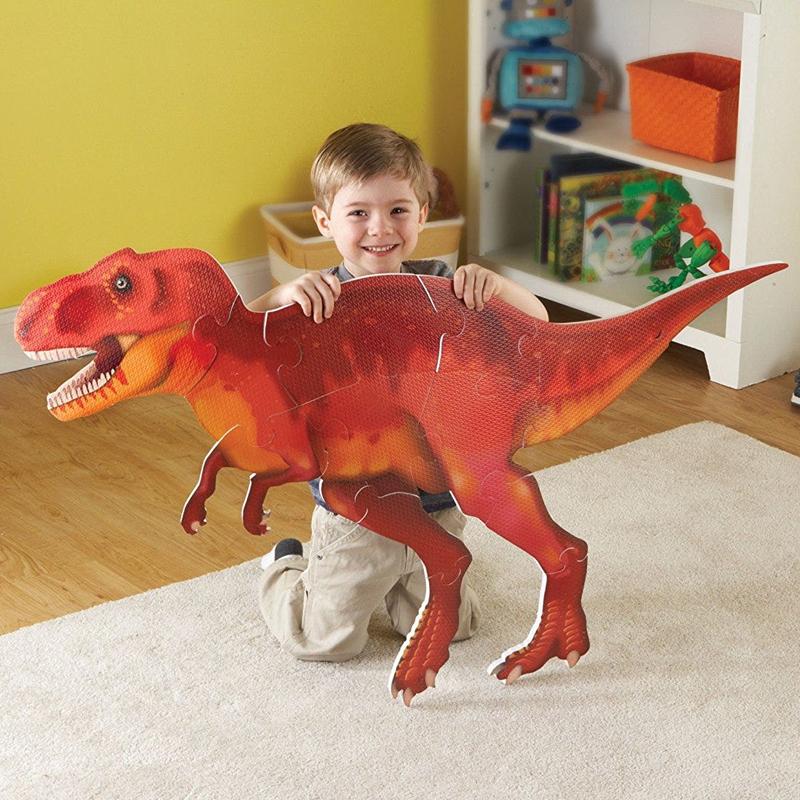 Dino puzle gigante para piso, diseño T-Rex 20pz