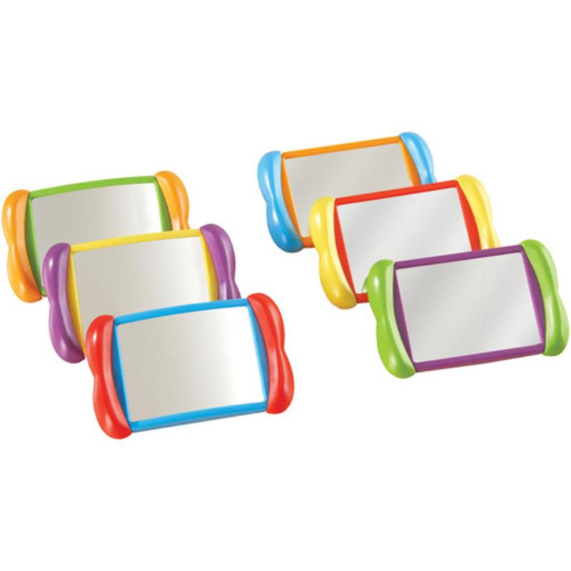 Set de 6 espejos 2 en 1 irrompibles