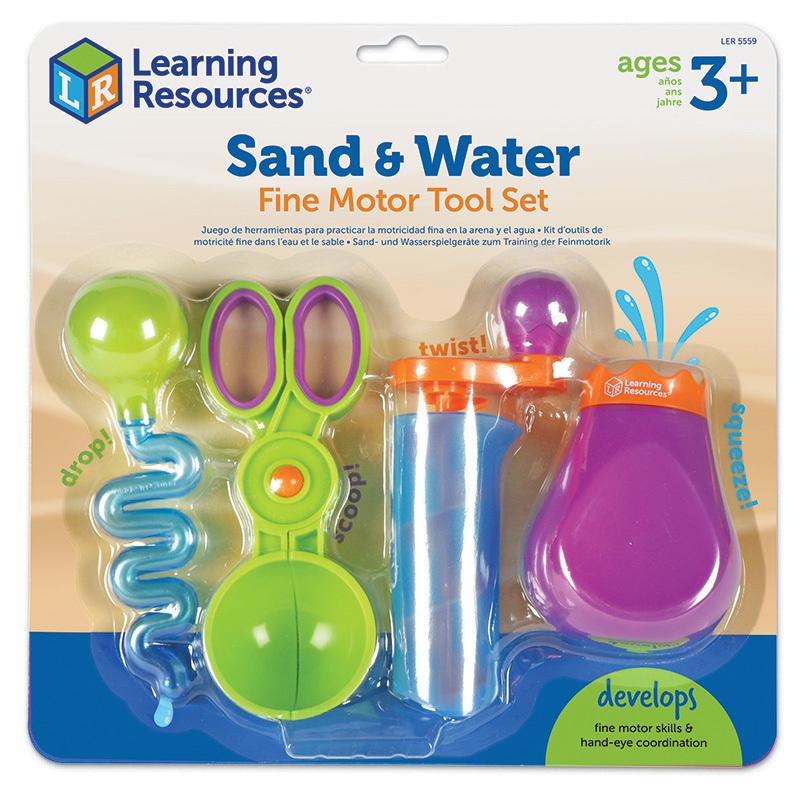 Kit de motricidad fina agua y arena 4pz