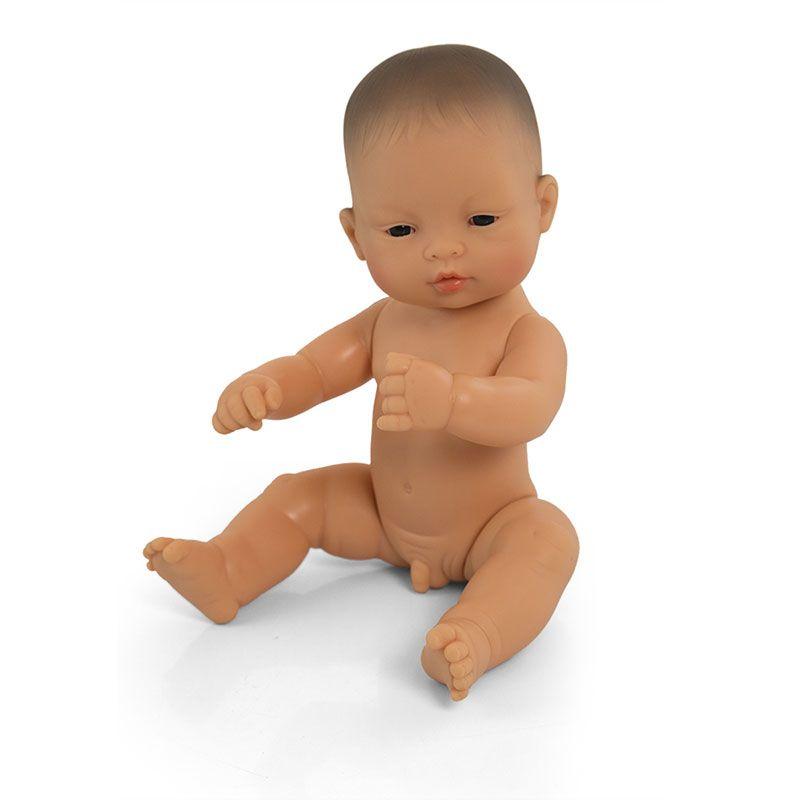 Bebé asiático niño de 32cm