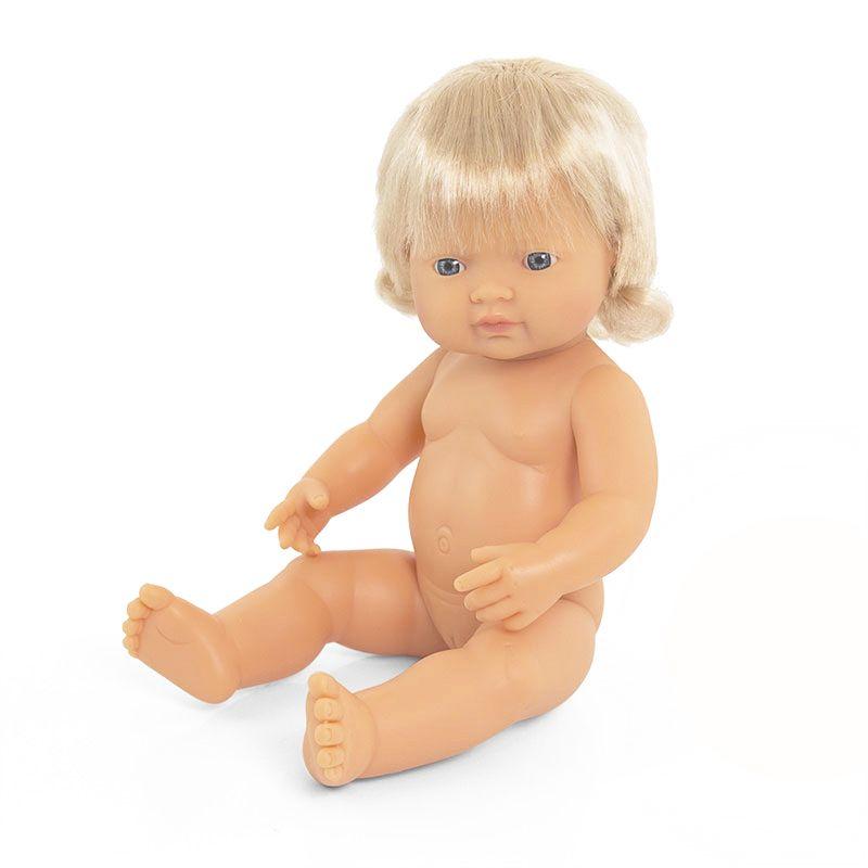 Bebé europeo niña de 38cm