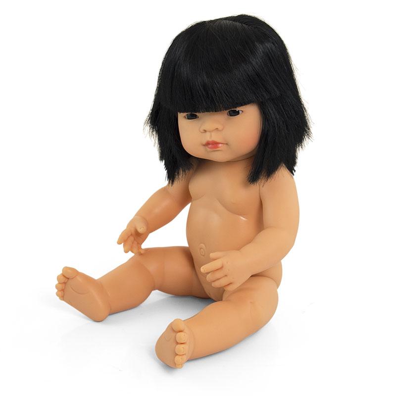Bebé asiático niña de 38cm
