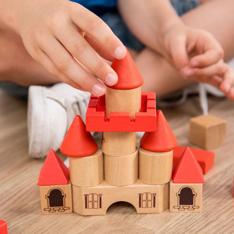 Bloques construcción castillo, Eco Friendly