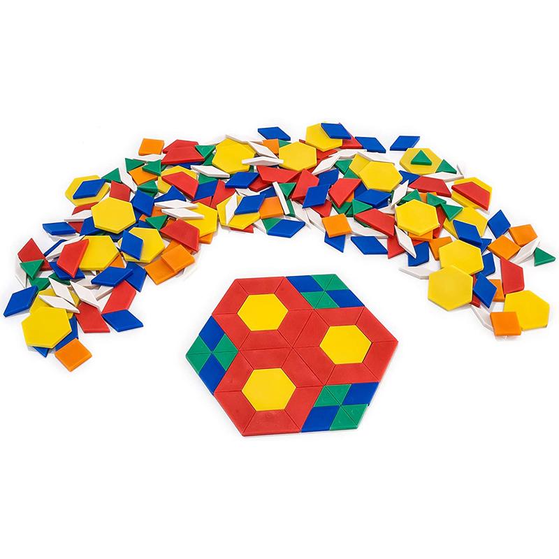 Mosaicos plásticos 250pz en pote