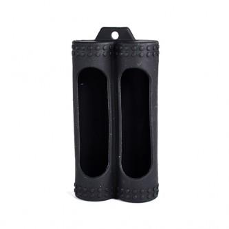 sleeve skin silicone single e dupla baterias 20700/21700 - cor preta