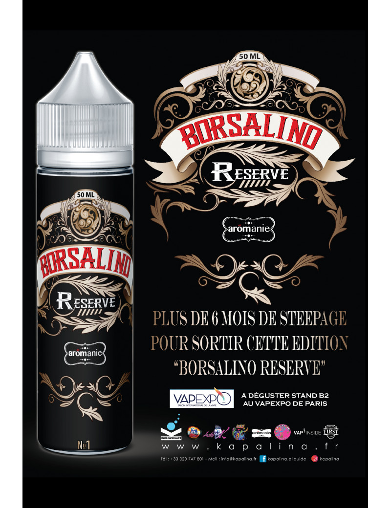 Eliquid Borsalino Reserve 50ML - Aromanie