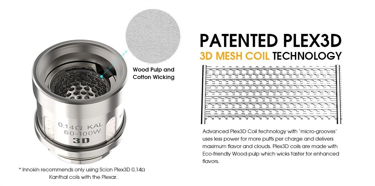 Coil Innokin Zenith -Zlide - 0.48ohm 3D Plexus coil