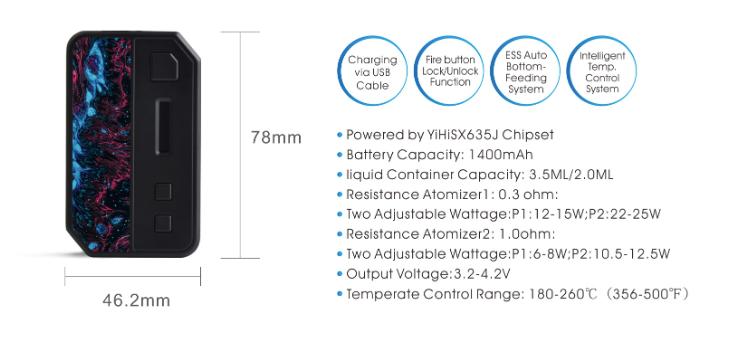 IPV V3-Mini 30W Auto-Squonk Pod System