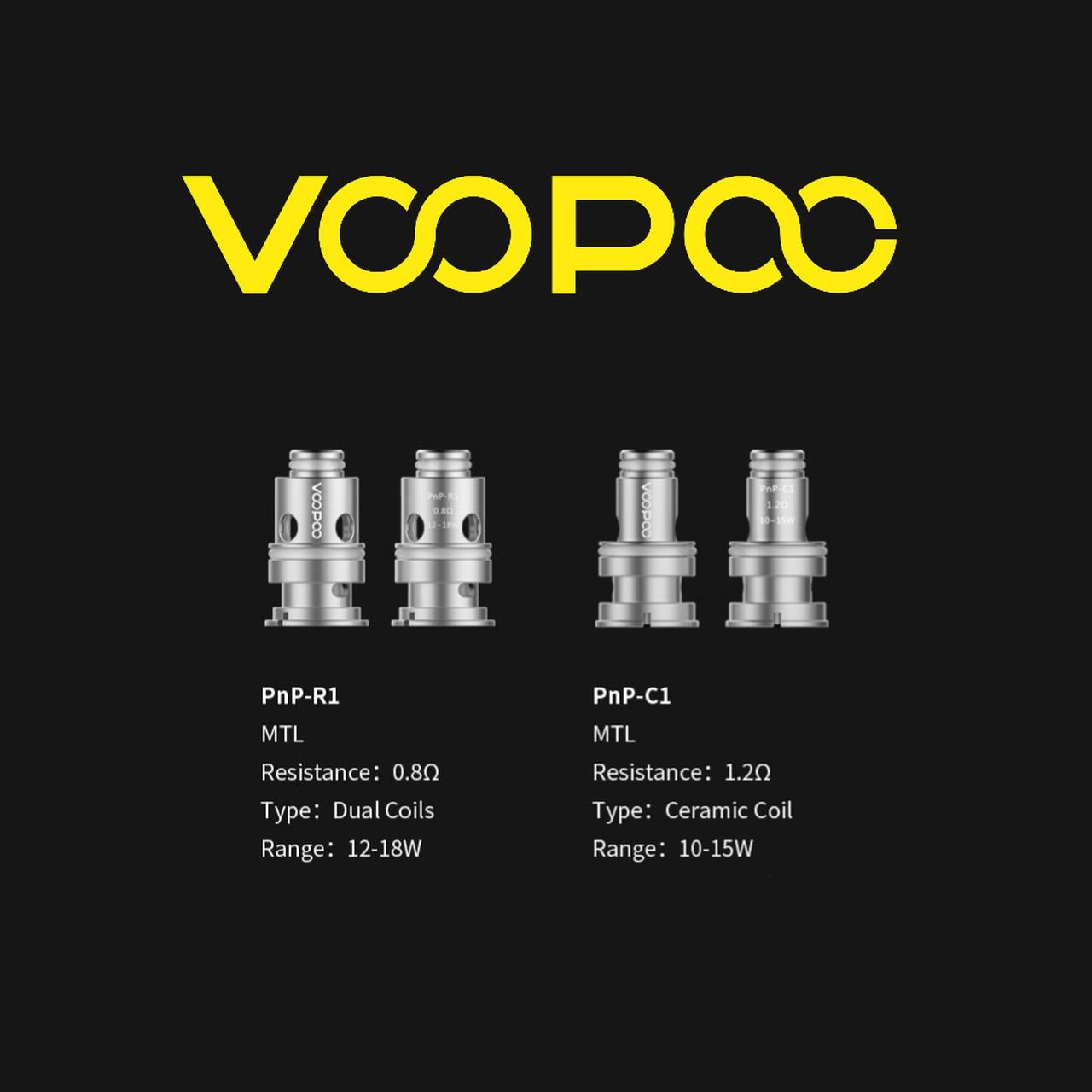 Resistencias PNP Pod Voopoo Find S trio & pod Voopoo Vinci