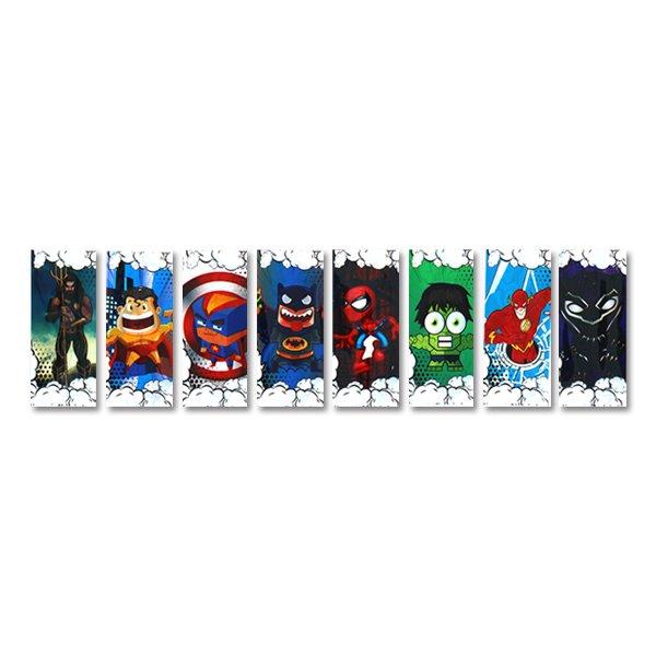 Wraps baterias 18650 super heroes