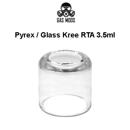 Vidro Pyrex Kree RTA 3.5ml - Gas Mods
