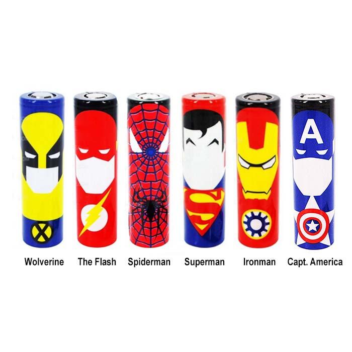 Wrap bat 18650 Super Heroes
