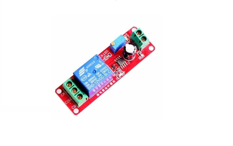 Qiulip NE555 Rel/é DC 5V Temporizador Ajustable Retardo Apagado Interruptor Tiempo Rel/é M/ódulo