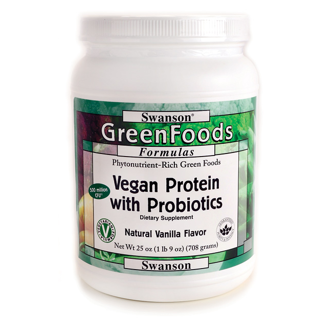 Proteína Vegana con probióticos 708 g - Swanson