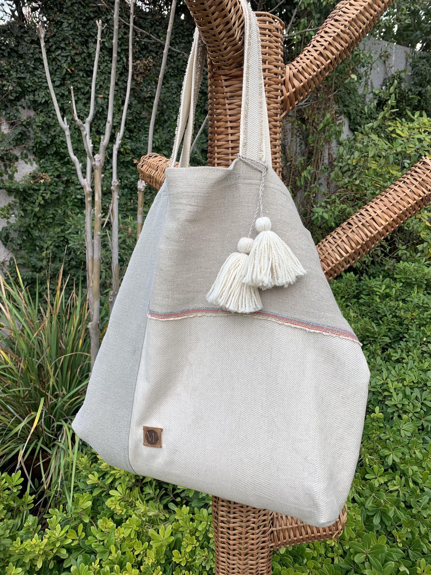Estiloso lino bolso