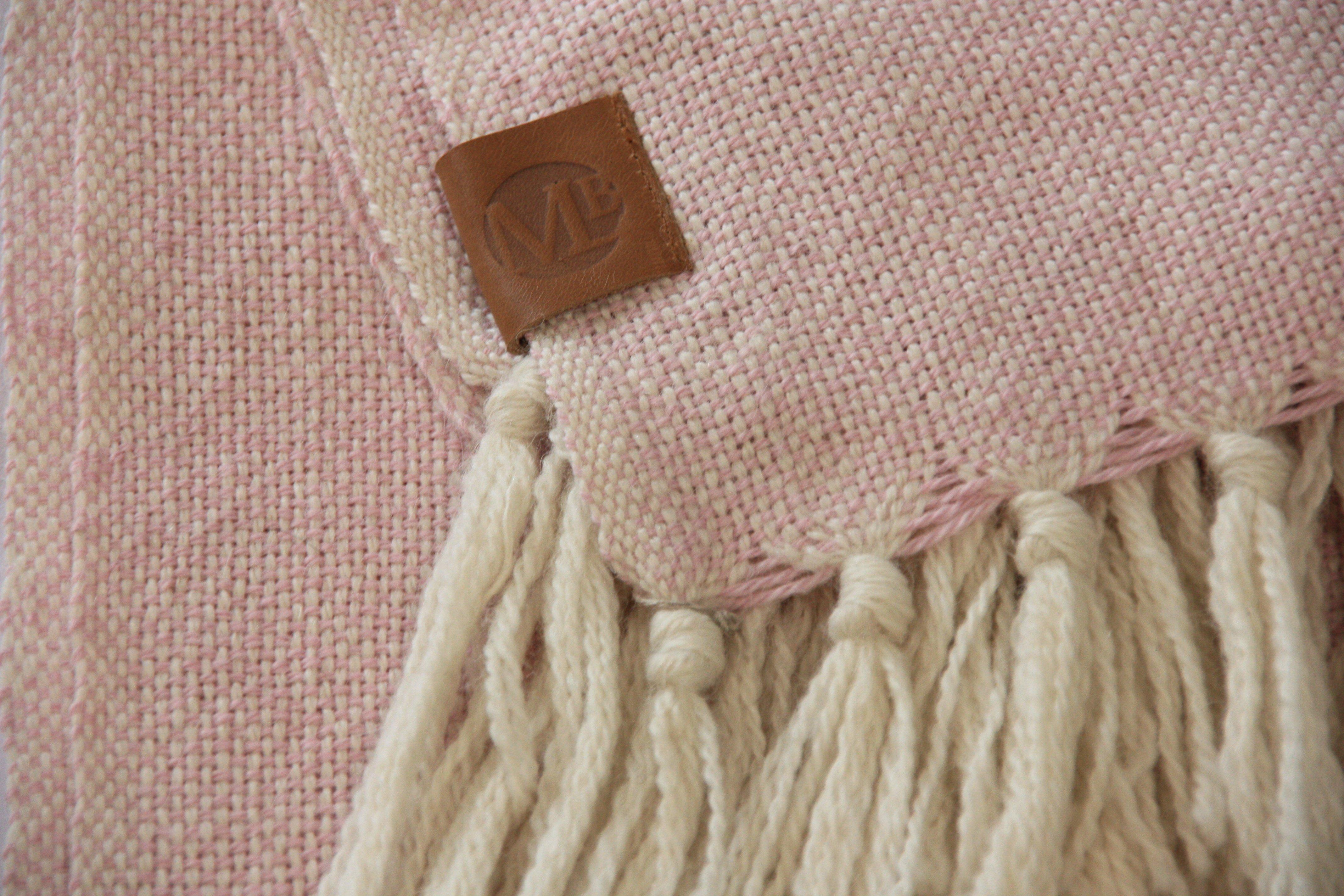 Piecera twin alpaca crudo y rosado