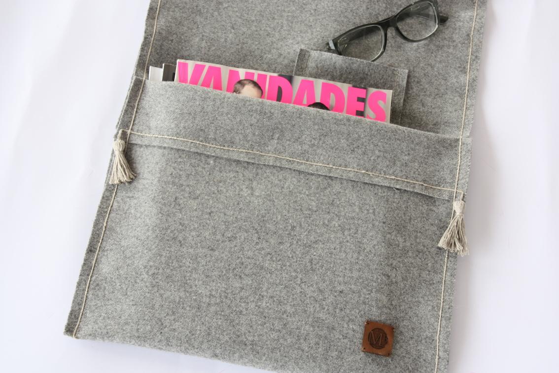 Revistero Paño lana/Lino gris
