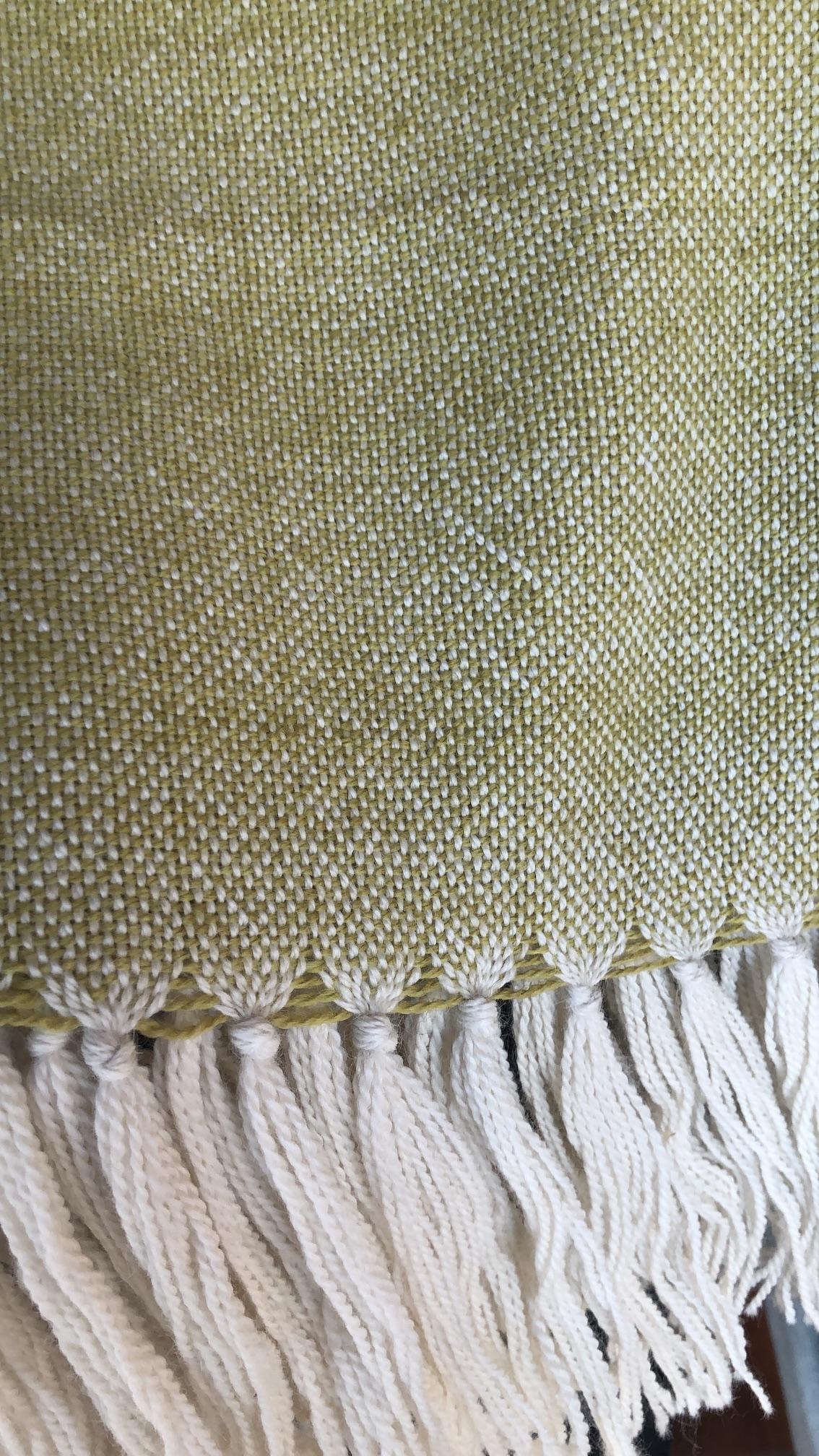 Chal de vestir crudo y pistacho