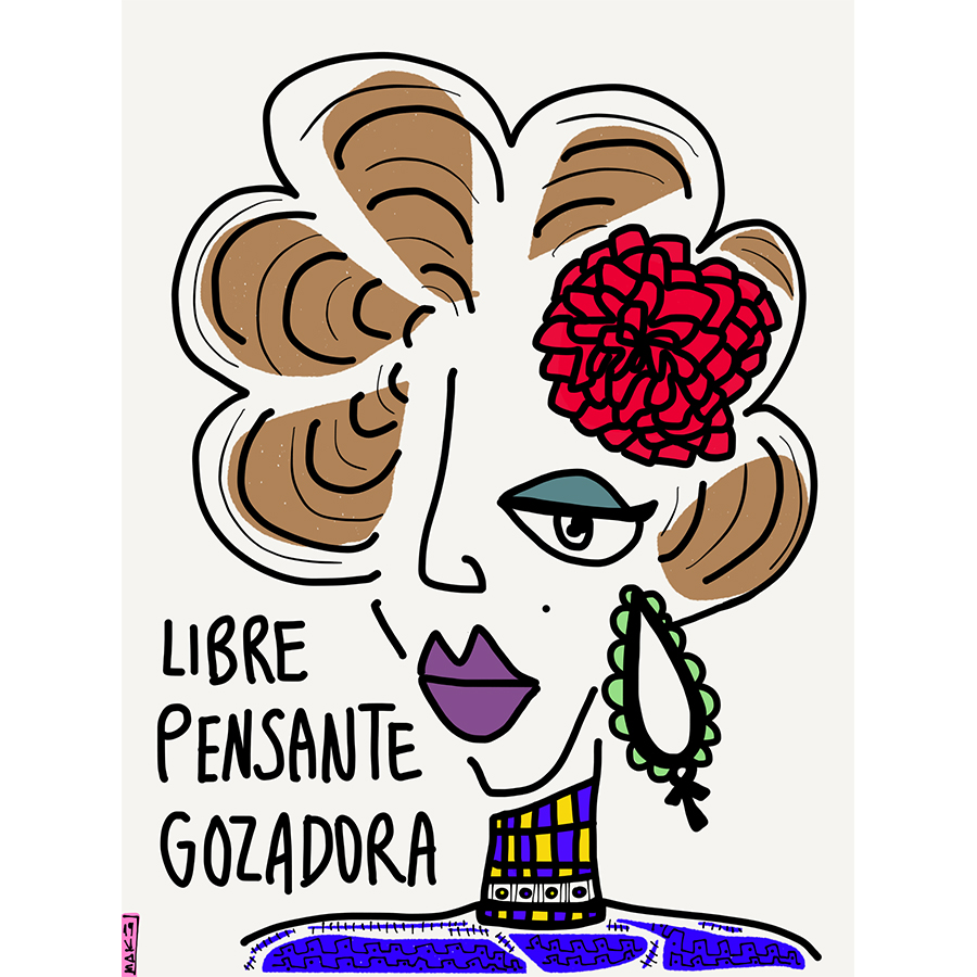 NEGRA LIBRE PENSANTE GOZADORA