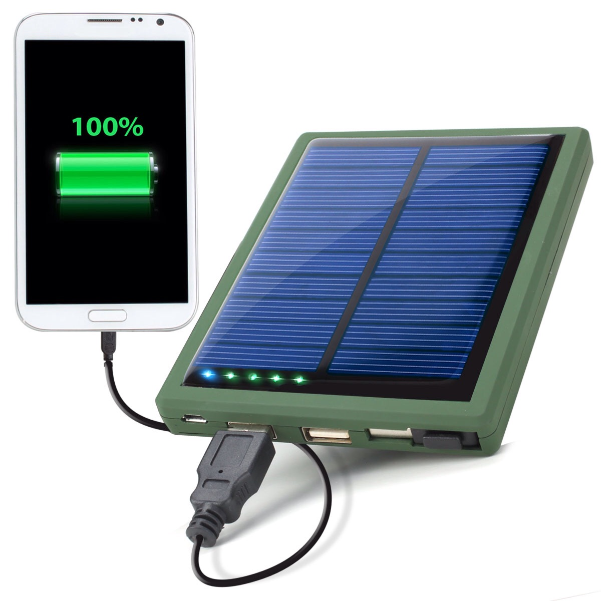 Cargador Bateria Solar Universal para Moviles Iphone, Android MP4, PSP, 5000 mAh