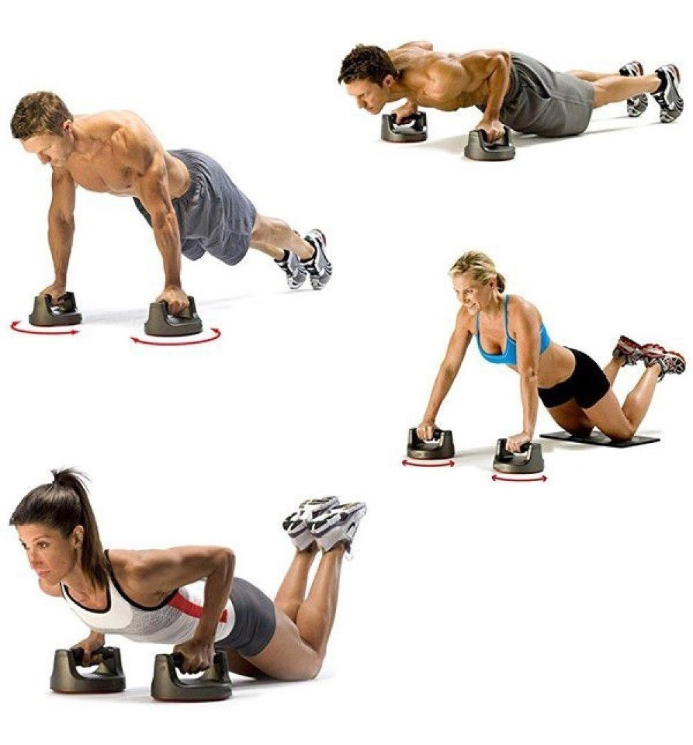 Discos Push Up Twister Para Entrenar En Casa
