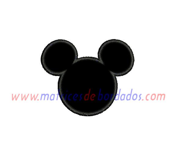 CT52JK - Silueta Mickey Apliqué