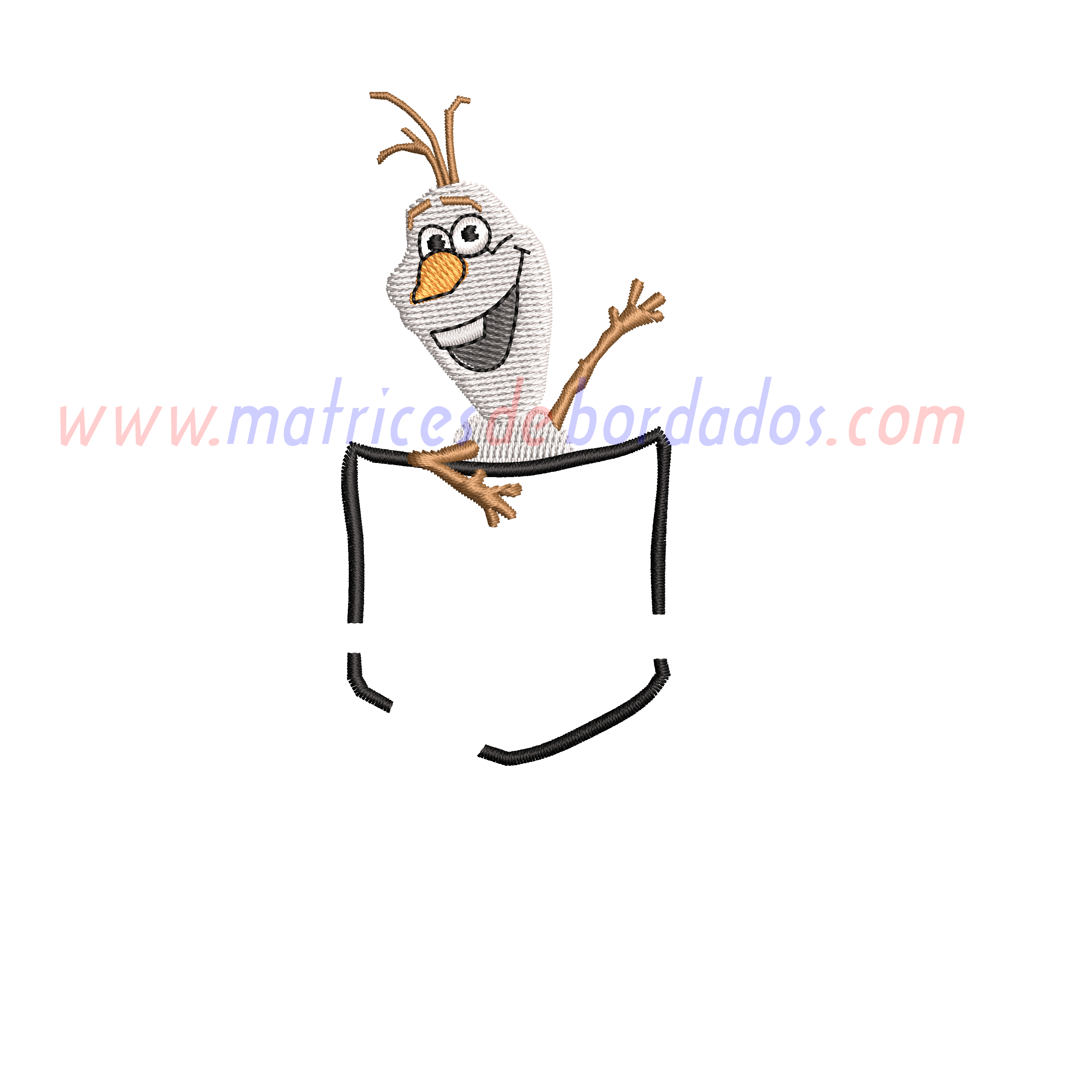 JN46QN - Bolsillo Olaf de Frozen