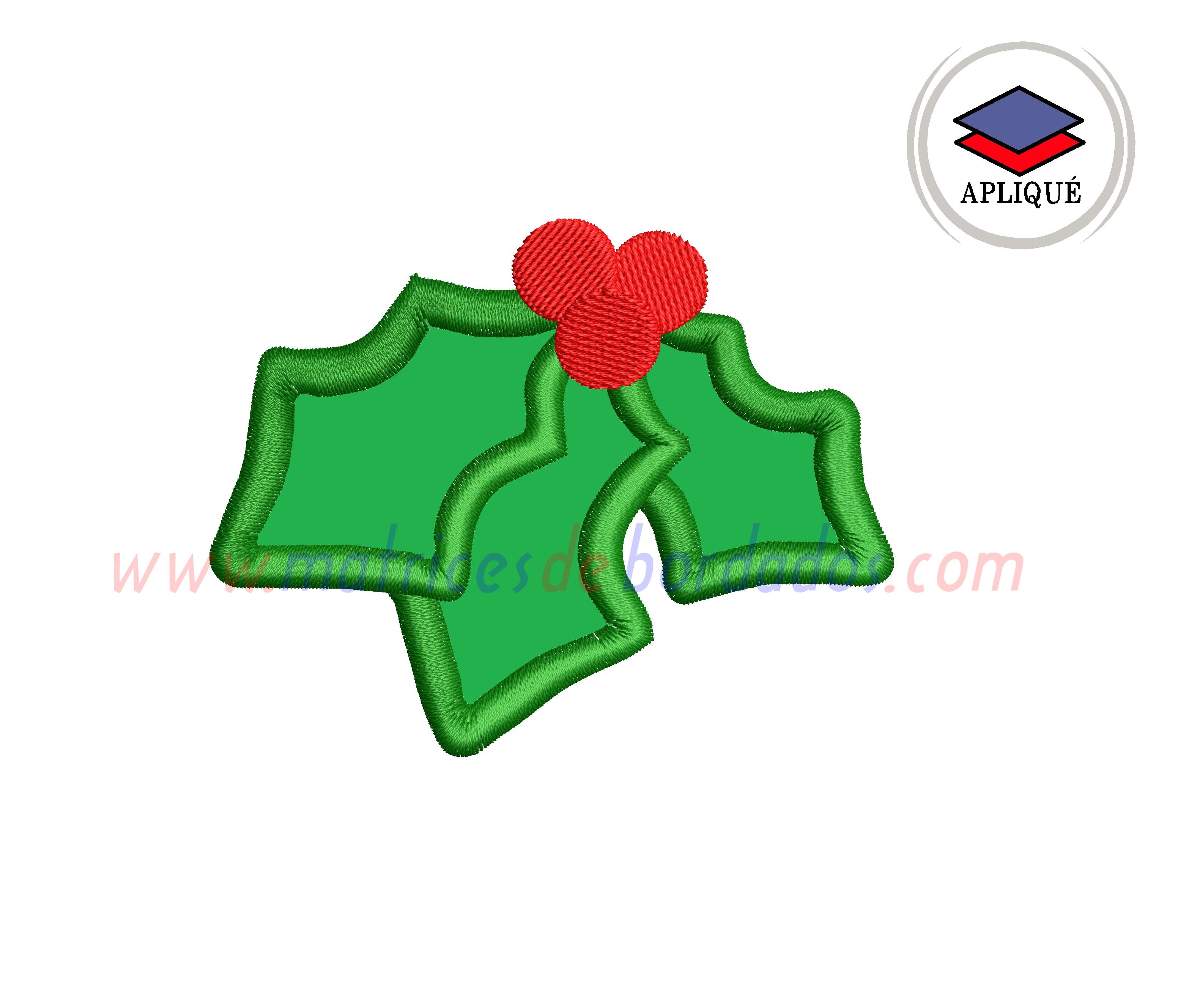 AU71YK - Muerdago en Apliqué Navidad