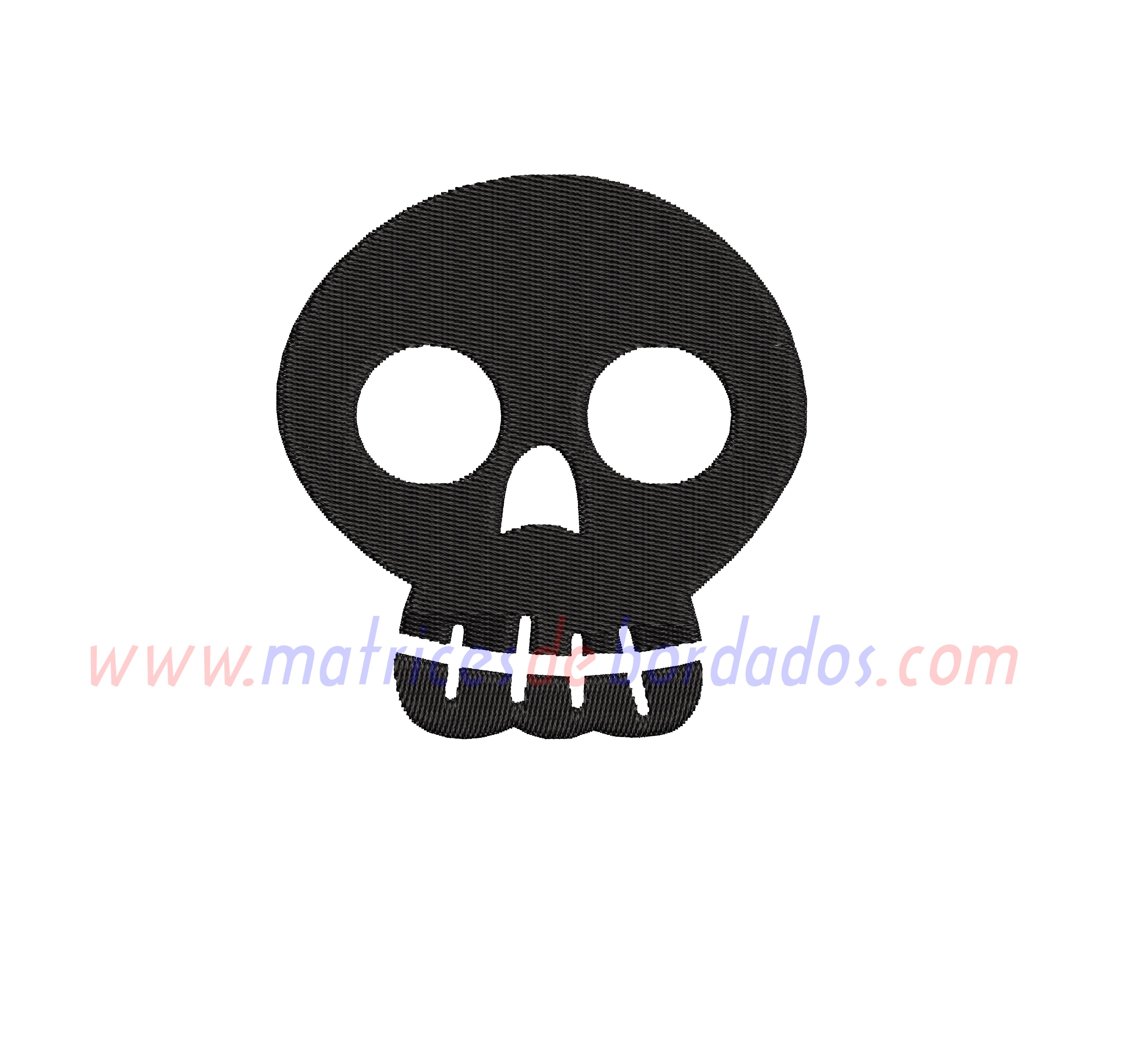 DJ87QA - Cara de Calavera Halloween