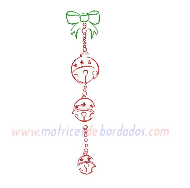 AE26RD - Adorno navidad cascabeles