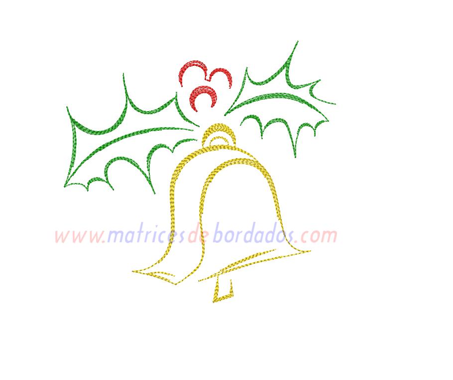 PV44FY - Adorno Navidad campana