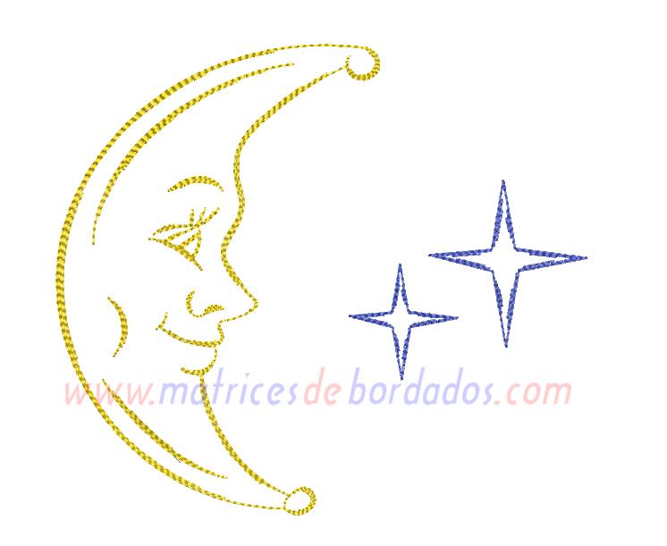 EE68GK - Luna y estrellas
