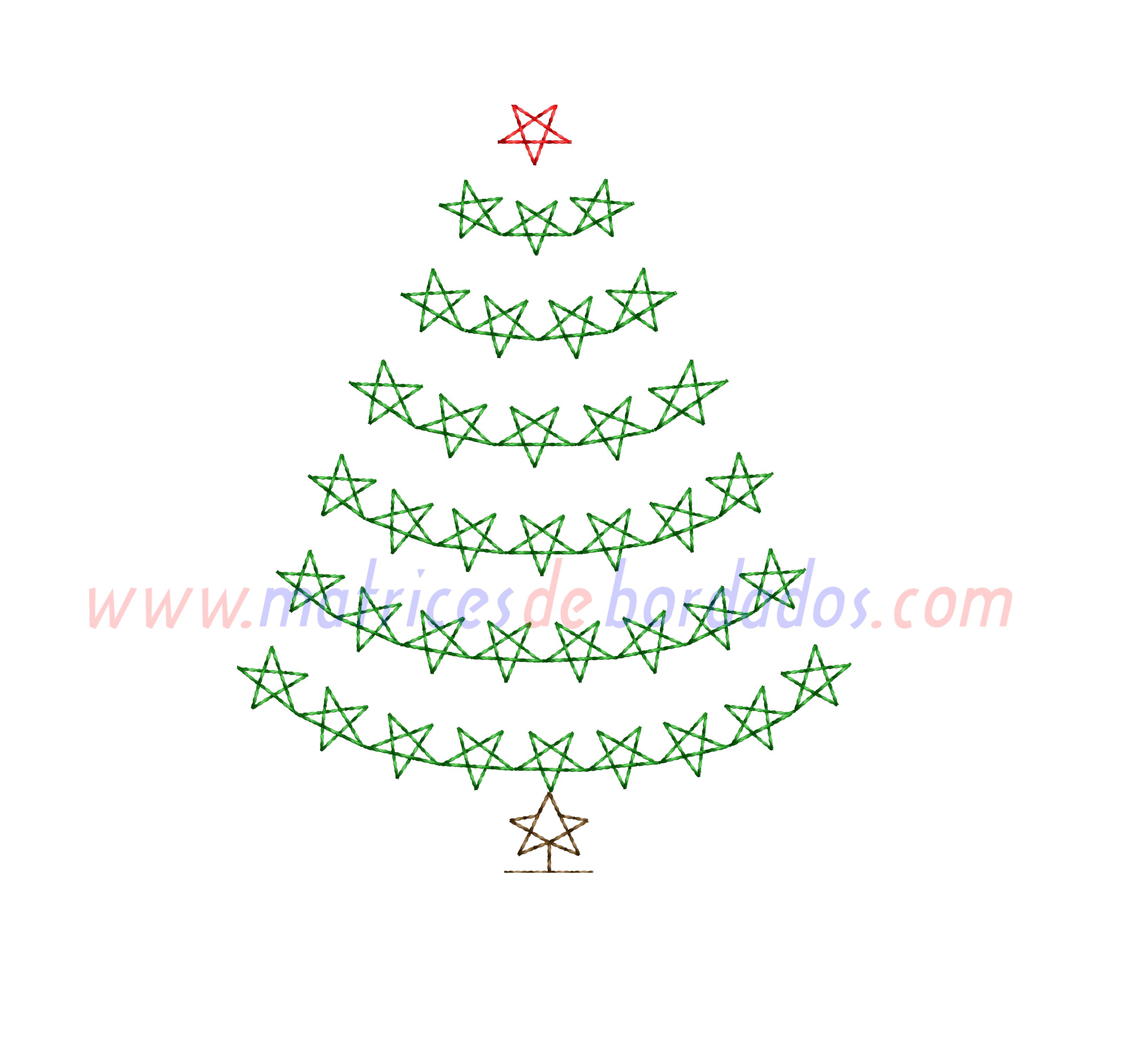 RE47BR - Arbol de Navidad de estrellas