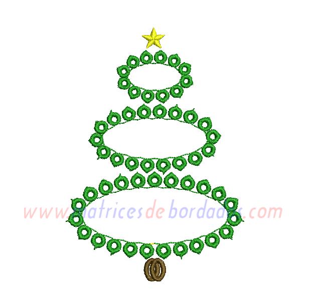 WG61FP - Arbol de Navidad en círculos