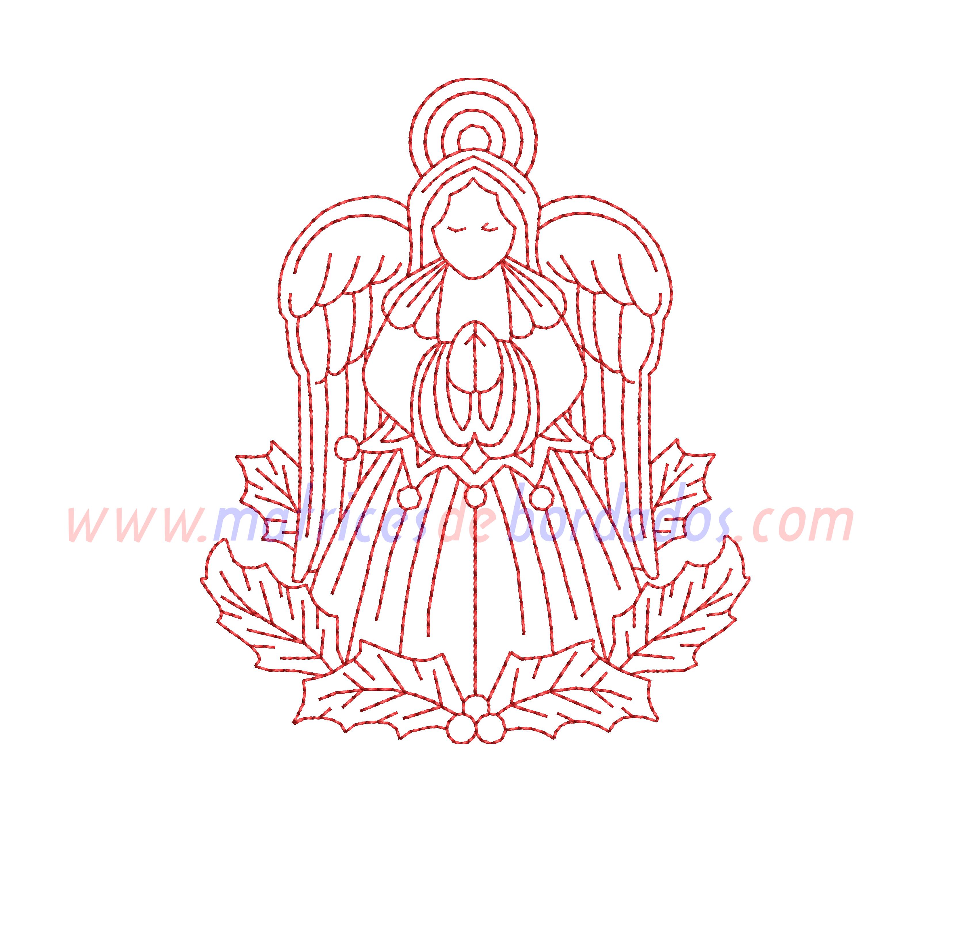 MQ31GP - Angel estilo redwork