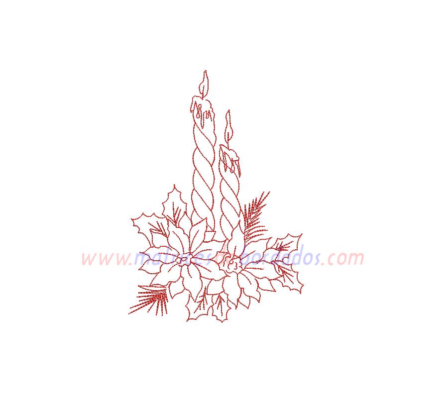 XM52VG - Velas y flores