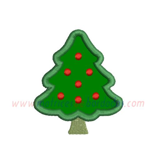 BY31JB - Árbol de navidad en aplique