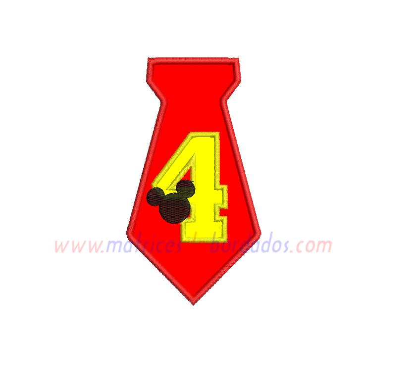 CH75QW - Número cuatro Mickey
