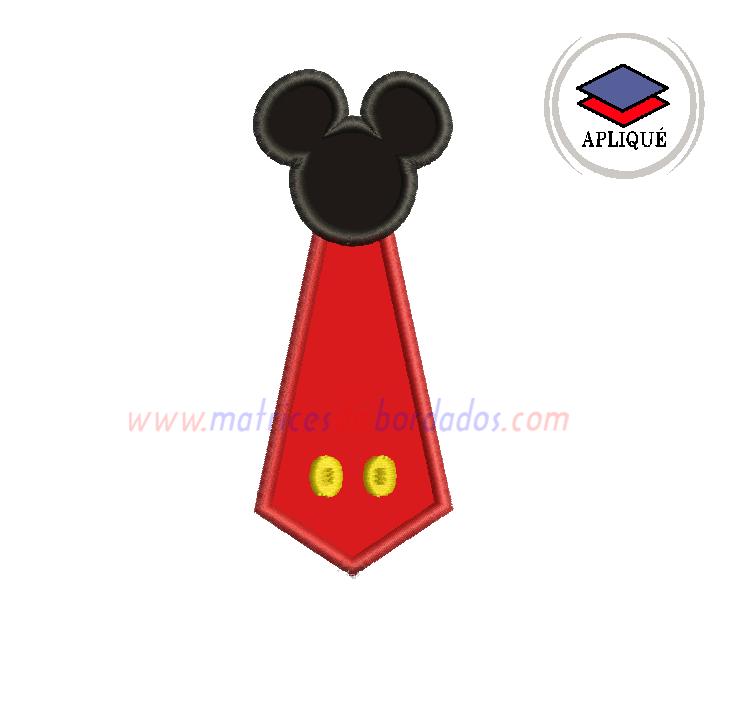 LA83CP - Corbata Mickey en Apliqué