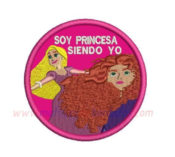 HB63HG - Rapunzel y Mérida en Apliqué
