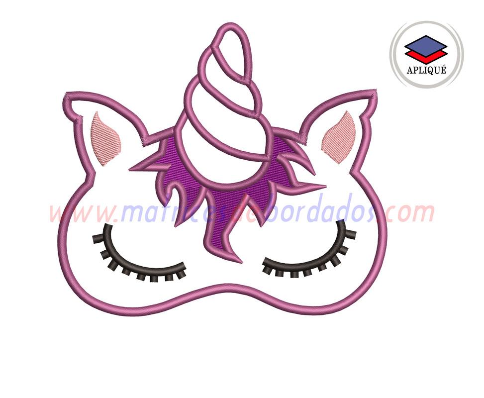 KQ29GU - Antifaz de unicornio Apliqué