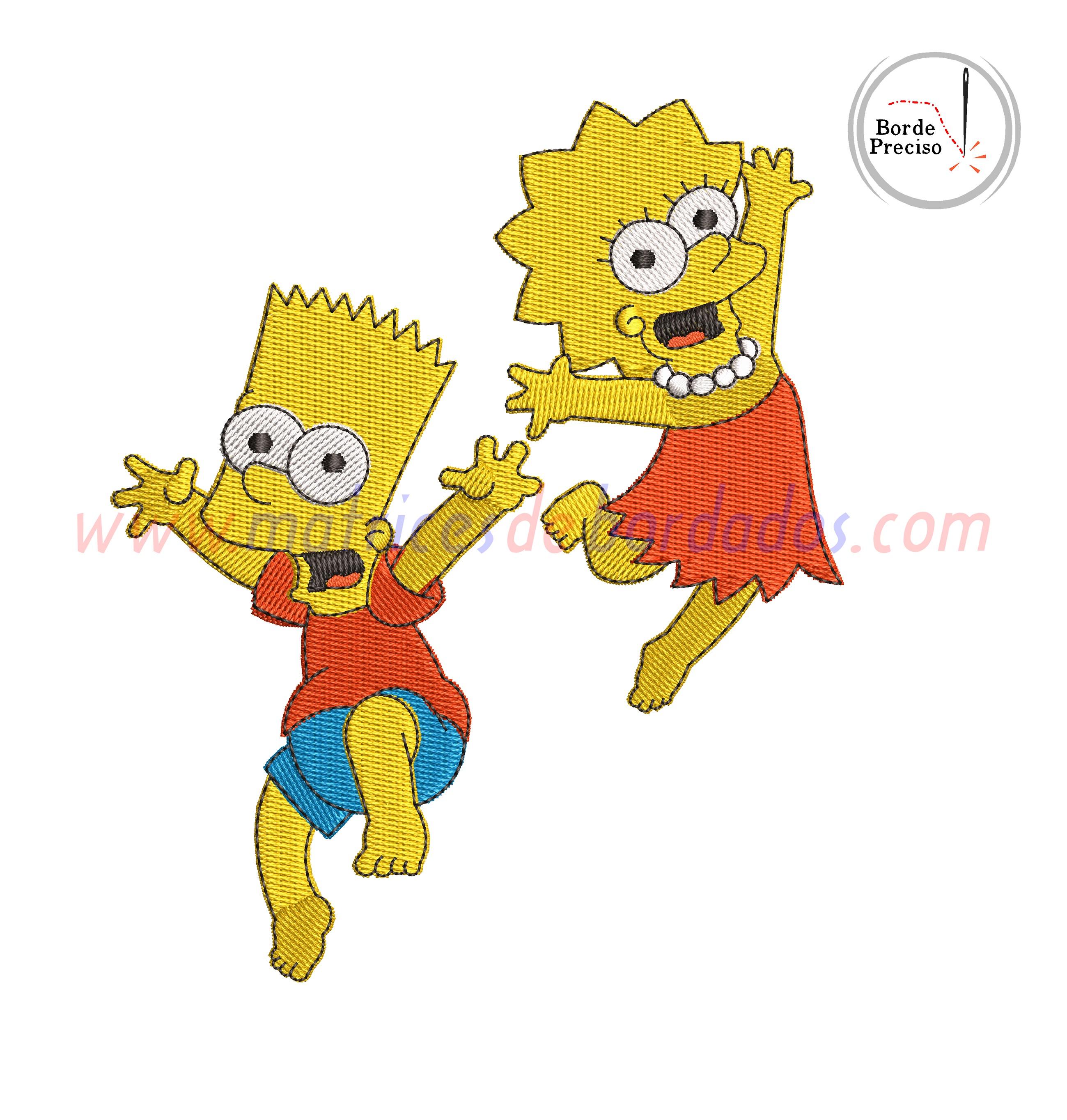 GZ56JH - Bart y Lisa