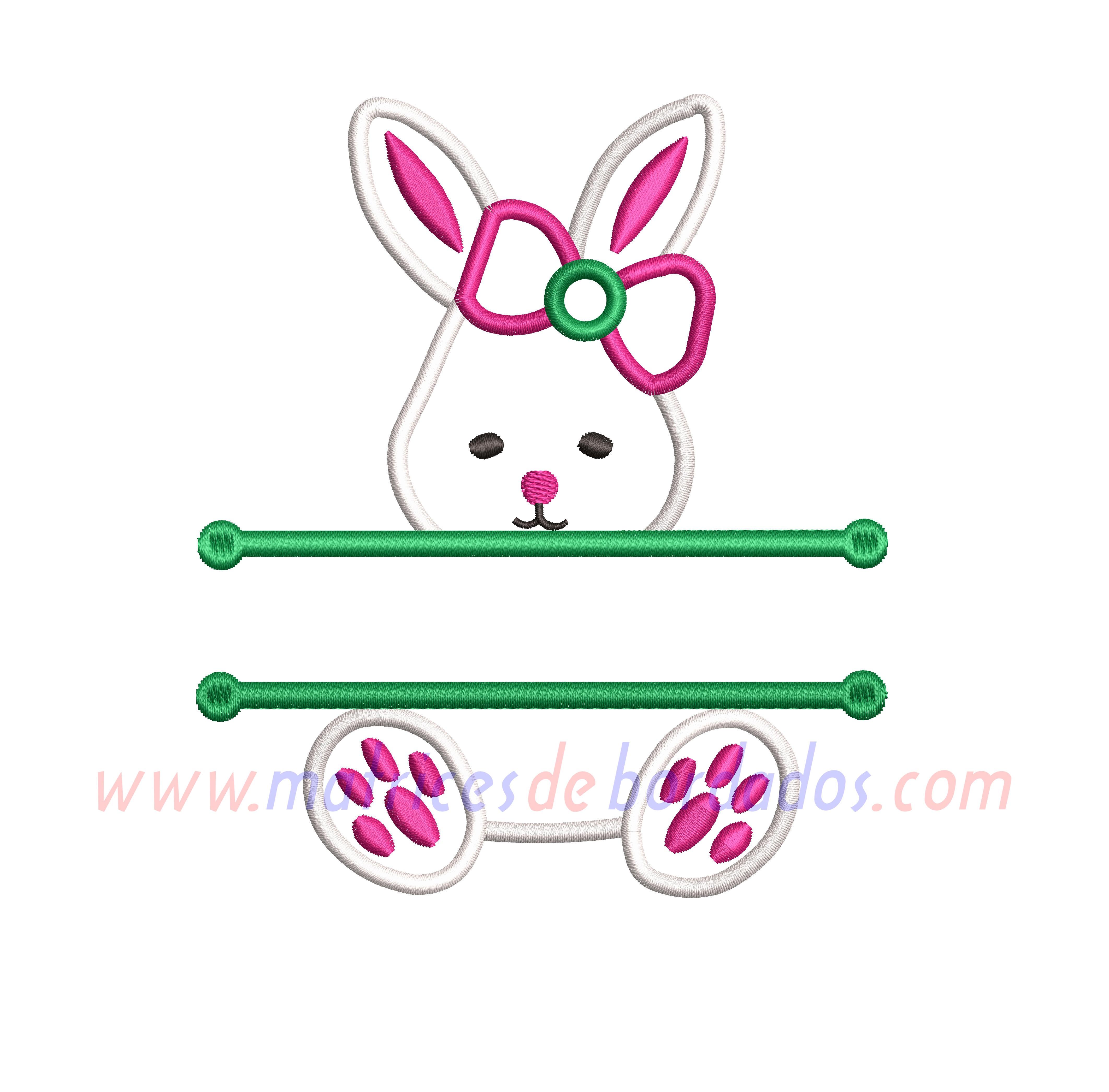 KU68QC - Conejo Apliqué para nombre