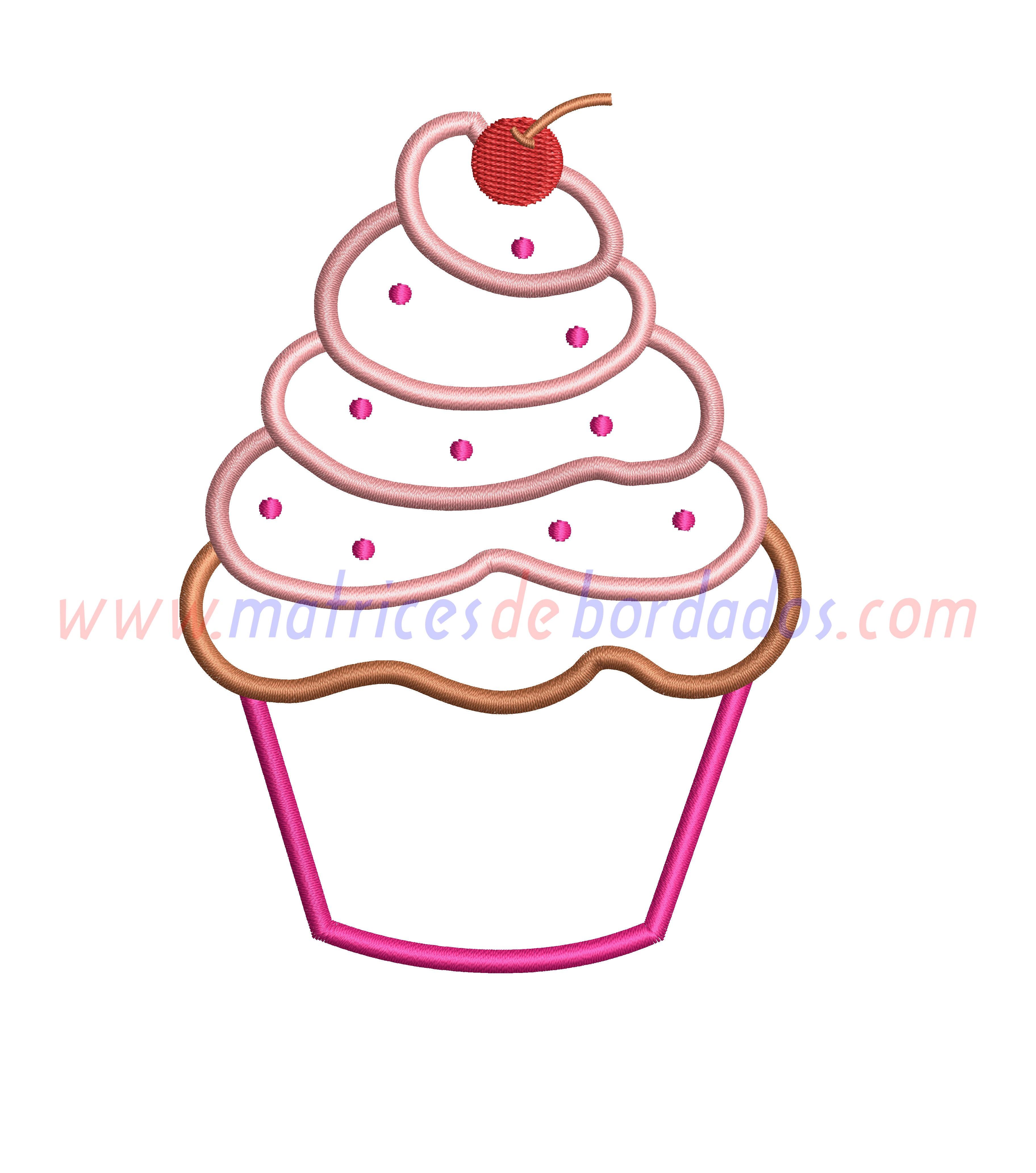 EX89RN - Cupcake Apliqué