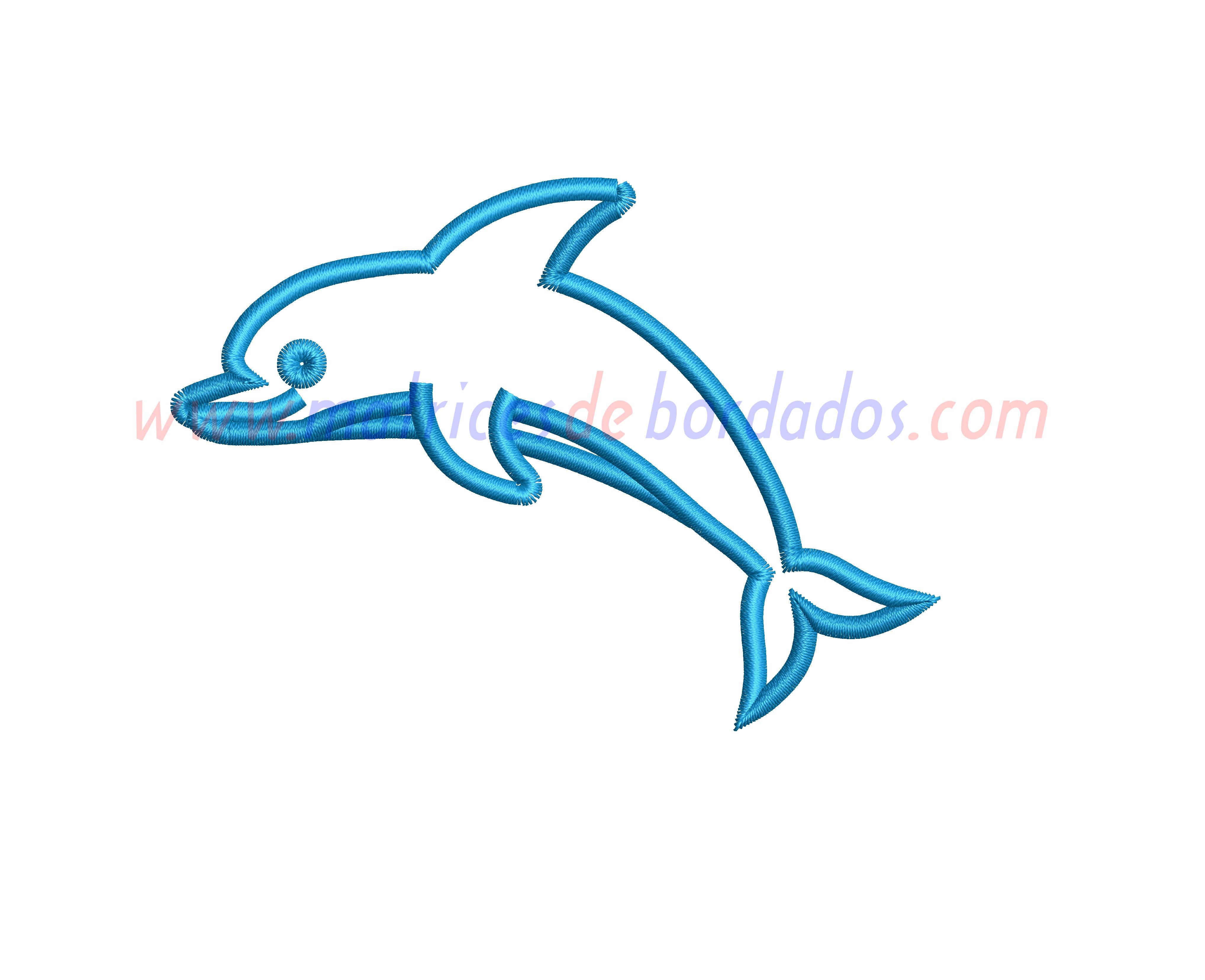 YW88GV - Delfín Apliqué